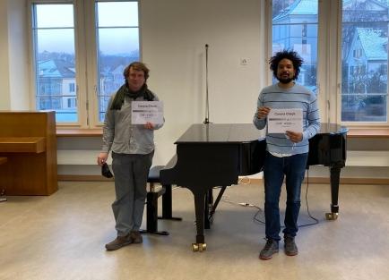 v.l.n.r.: Lukas Roth und Marcel Ricklin