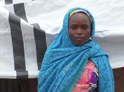 Die Nigerianerin Fatima fand Zuflucht in einer ShelterBox.